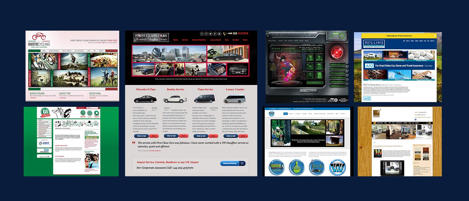 examples of Big Stick website design